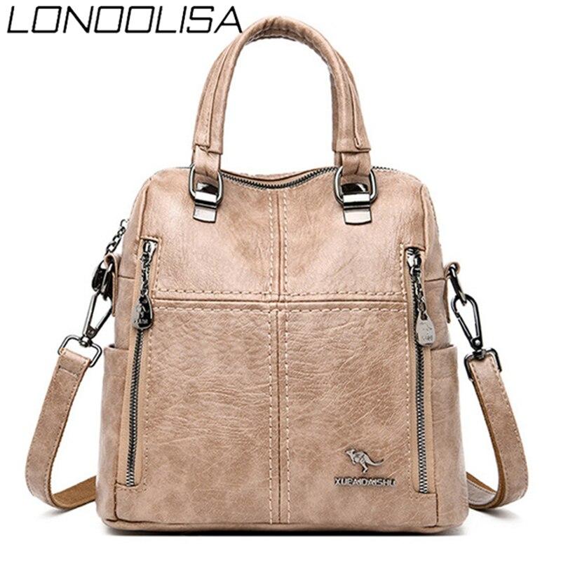 Multifunction Back Pack Bagpack Luxury Handbags Women Bags Designer Purses and Handbags Shoulder Crossbody Bags for Women 2020