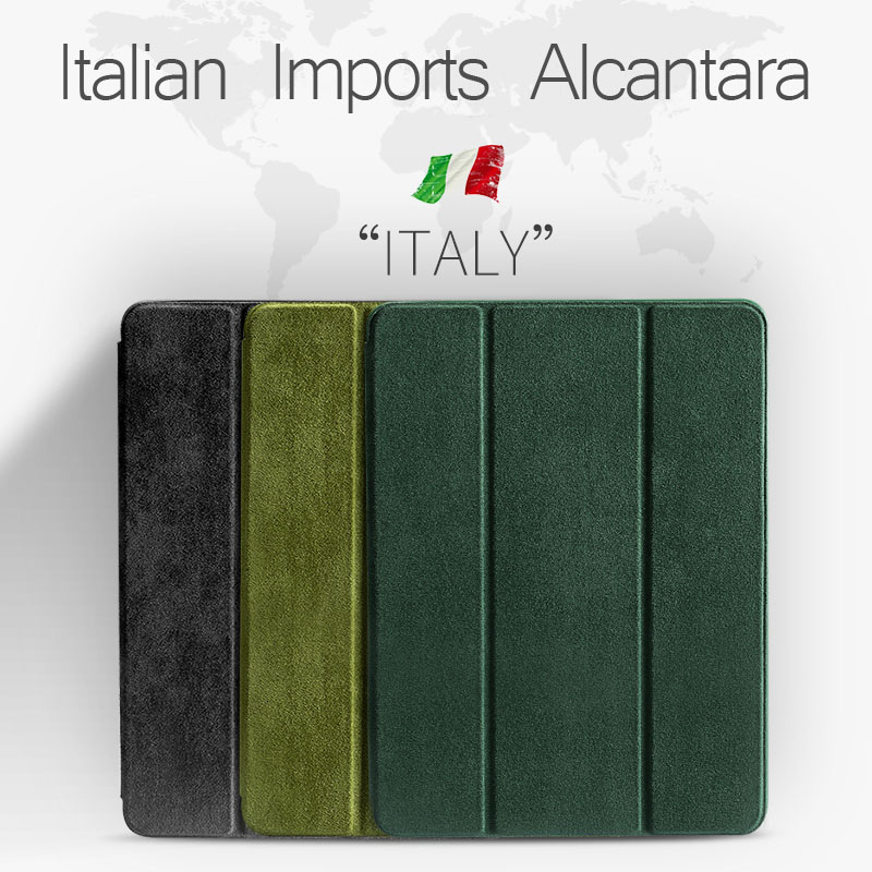 For iPad Air 2 1 3 Pro Case 2018 9.7 ALCANTARA   Leather   Soft Silicone 2017 Luxury   Suede   Shell cover Case for iPad 2019 10.2 10.5