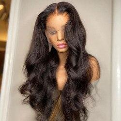 Парики на полной сетке без клея, бразильские волосы, волнистый парик, парики на полной сетке спереди из человеческих волос для черных женщин...
