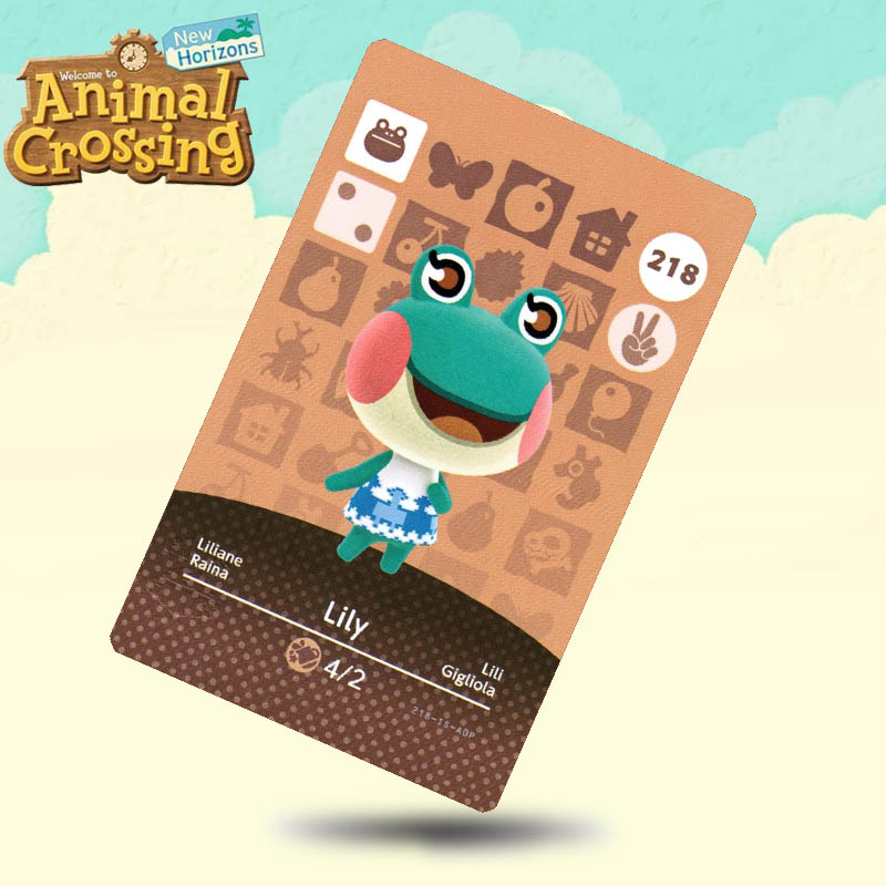 218 Lily Animal Crossing Card Amiibo Cards Work For Switch NS 3DS Games