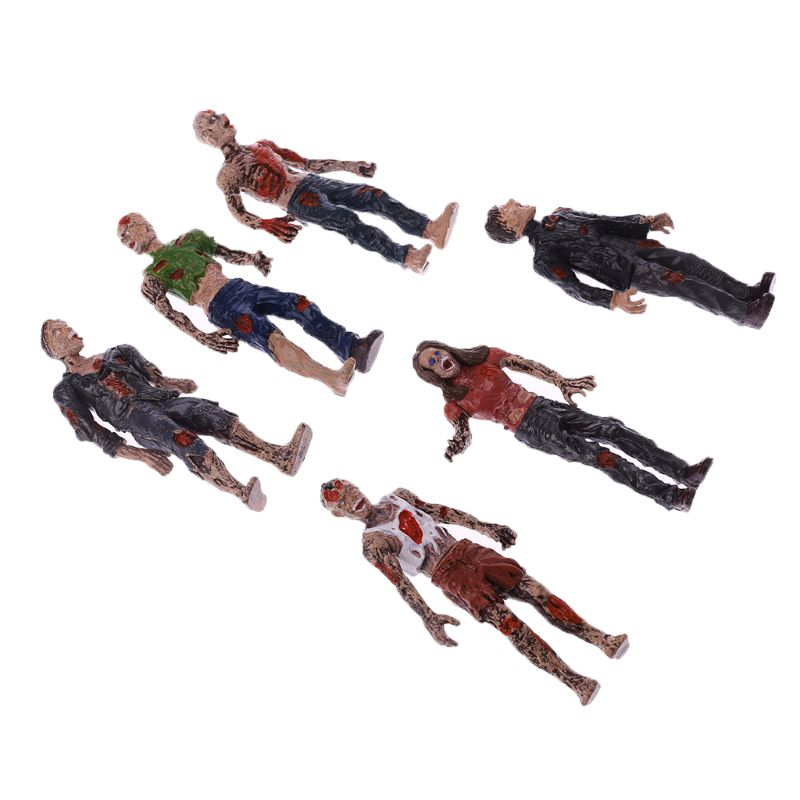 6Pcs Walking Corpses Model Terror Zombies Kids Children Action Figure Toys Dolls