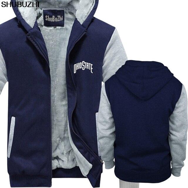 Printed warm coats winter thick hoodies Men 143 Ohio Script State Pride Buckeye Band Foot Baller Vintage Retro jacket sbz577