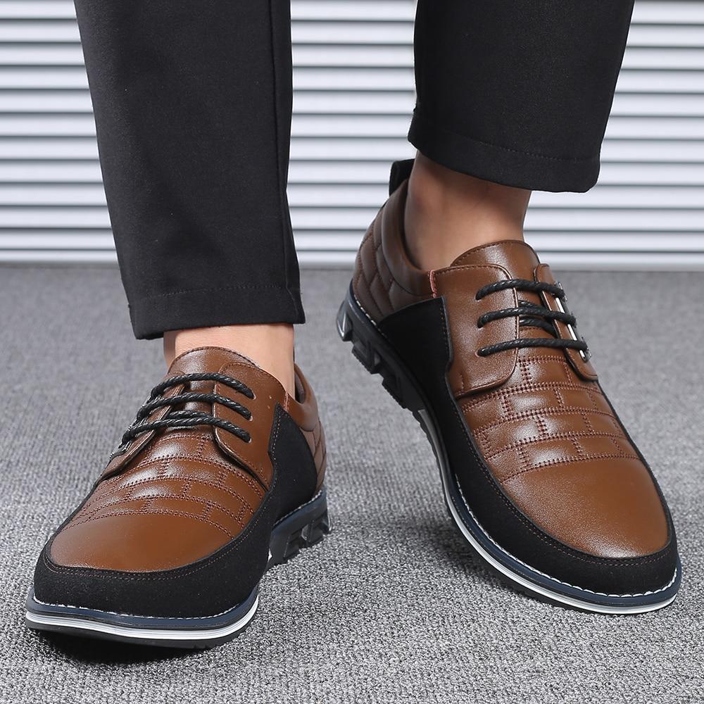 Hd0e21d41883c42bc97ad3db96f0c8756H 2019 New Big Size 38-48 Oxfords Leather Men Shoes Fashion Casual Slip On Formal Business Wedding Dress Shoes Men Drop Shipping