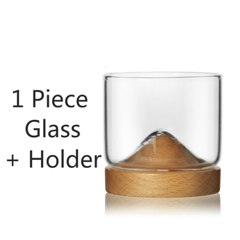 Creative Whisky Glass With Woodiness Holder Japanese Style Rum Liquor Beer Wineglass Personality Mountain Design Tasting  Vaso 5