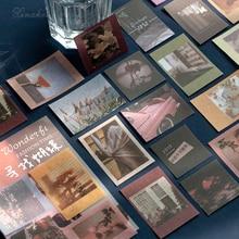 XINAHER 100 unids/bolsa Vintage diario de viaje washi pegatina de papel para decoración pegatinas DIY álbum de recortes diario etiqueta adhesiva