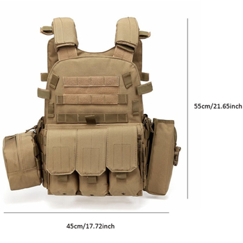 Tactical Vest Military Combat Body Armor Mens Army Hunting Vest Plate Carrier Airsoft 094K Pouch Combat Gear Outdoor CS Training 6