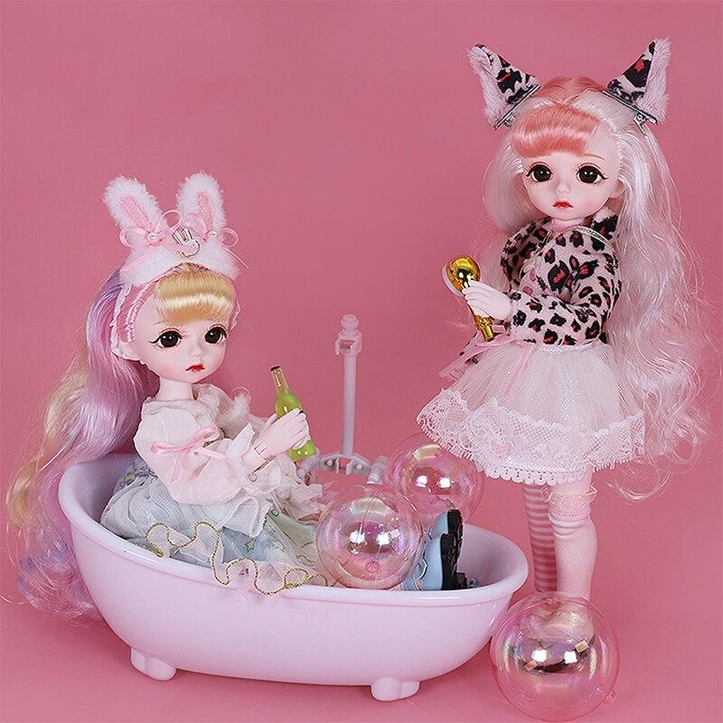 Волшебное сказочное 1/6 кукла милый макияж 28 см шаровой шарнир куклы, включая одежду обувь принцессы Стиль BJD куклы, игрушки DIY подарки для дев...