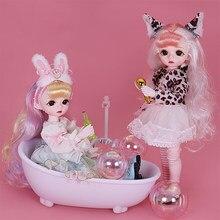 Sonho fada 1/6 boneca bonito maquiagem 28cm bola conjunta bonecas incluindo roupas sapatos princesa estilo bjd bonecas diy brinquedo presentes para meninas