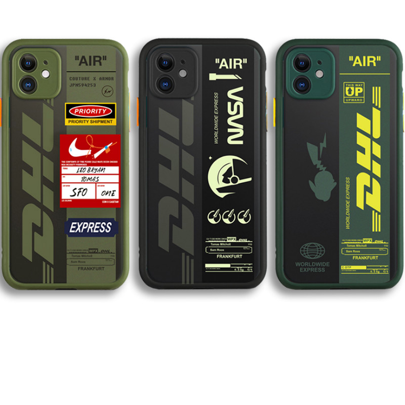 Air ticket CHN city ShenZhen shanghai DHL Express Label Phone Case for iPhone 11 pro XS Max XR 7 8 Plus Shockproof clear Cover