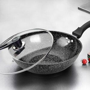 Image 5 - Pan Maifan Stone Wok 비 스틱 팬 No smoke 유도 밥솥 가스 스토브 32CM34CM 볶음 냄비 요리 냄비 주방 냄비