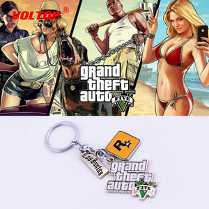 Image 1 - Gta5 chaveiro do carro grande roubo chaveiro auto chaveiro para fãs ps4 xbox pc rockstar porta chaves titular 4.5cm