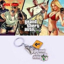 LLavero de coche GTA5 llavero de gran robo llavero de coche para Fans PS4 Xbox soporte de llavero Rockstar 4,5 cm