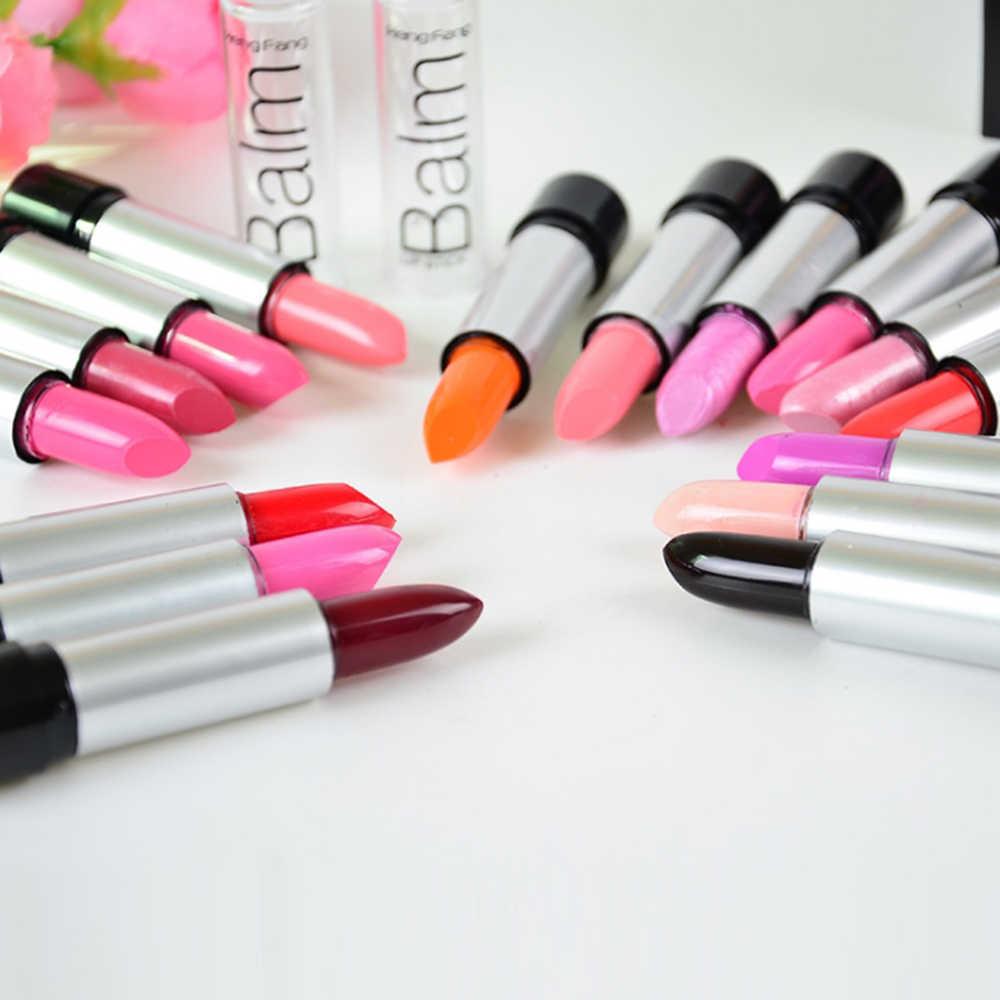 13 צבעים מט שפתון לאורך זמן קטיפה שפתיים מקל עמיד למים סקסי שפות אדומות פיגמנטים נשים יופי איפור שפתיים גוון