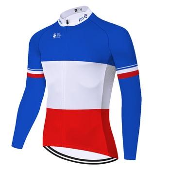 Camiseta de manga larga para ciclismo, para hombre, para otoño/primavera