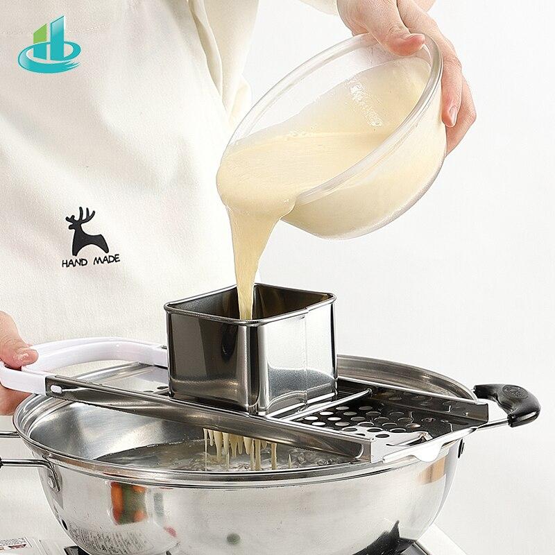 Pasta Machine Manual Noodle Spaetzle Maker Stainless Steel Blades Dumpling Maker Pasta Cooking Tools Kitchen Accessories