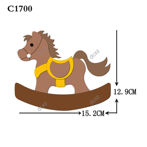 Image 3 - New horse Wooden die Scrapbooking C 301 4 Cutting Dies Compatible with most die cutting machines