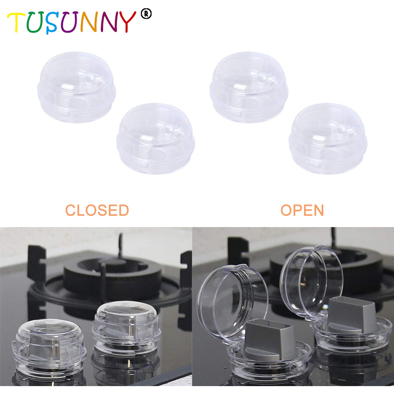 TUSUNNY 2pcs Infant Children Safety  Lock Switch Cover Gas Stove Knob Protective Cover Baby Child Protection Safety Products