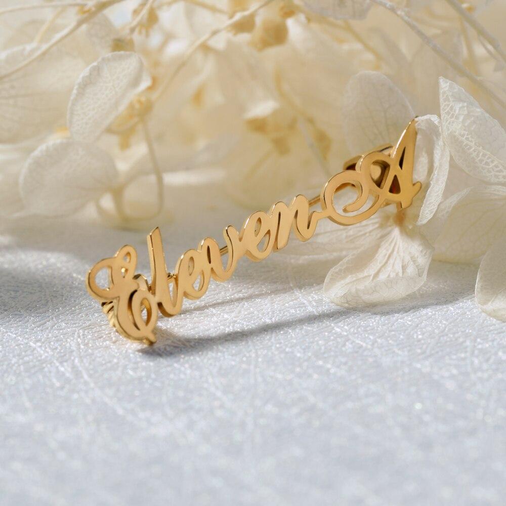 Alfileres nombre personalizado alfileres broches inicial Alfiler Para Regalo Bodas Para Mujeres Hombres joyería de moda