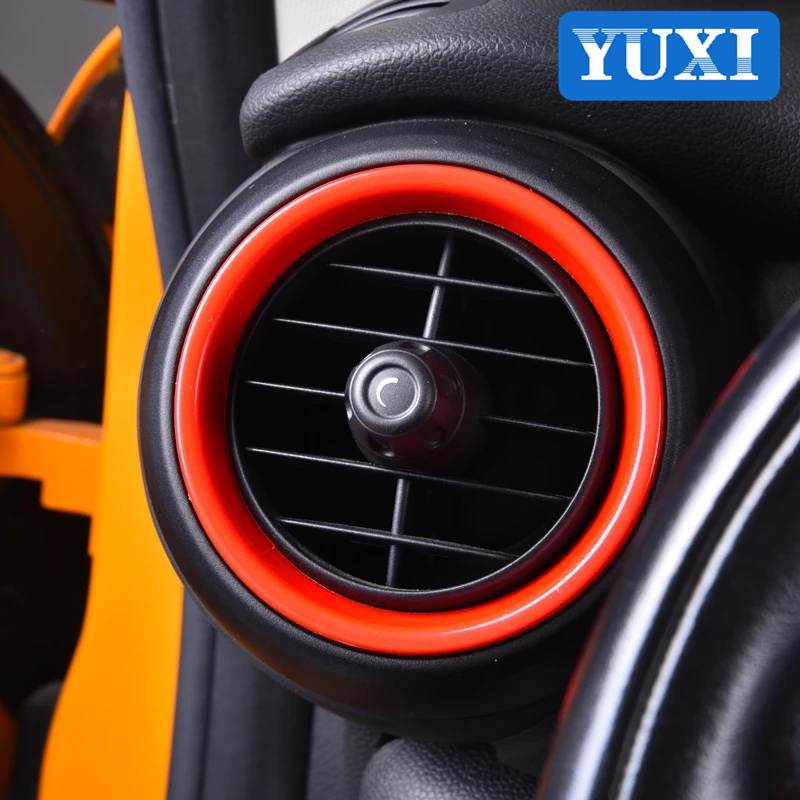 Red Air conditioning air outlet decorative cover For BMW MINI ONE Cooper S JCW F55 F56 F57 Car interior modification accessories