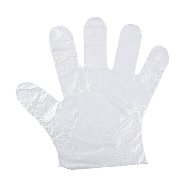 Disposable Gloves One-off Food Plastic Fruit Gloves Restaurant BBQ Transparent Eco-friendly PE Gloves Kitchen Garden Accessories 3
