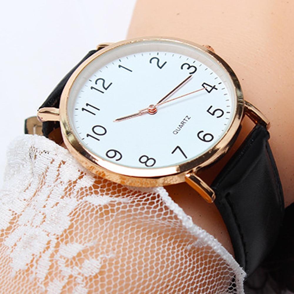 2019 Top Brand Hot Fashion Men Watches Men's Leather Band Unisex Simple Busines Analog Alloy Vintage Quartz Watch Male Clock