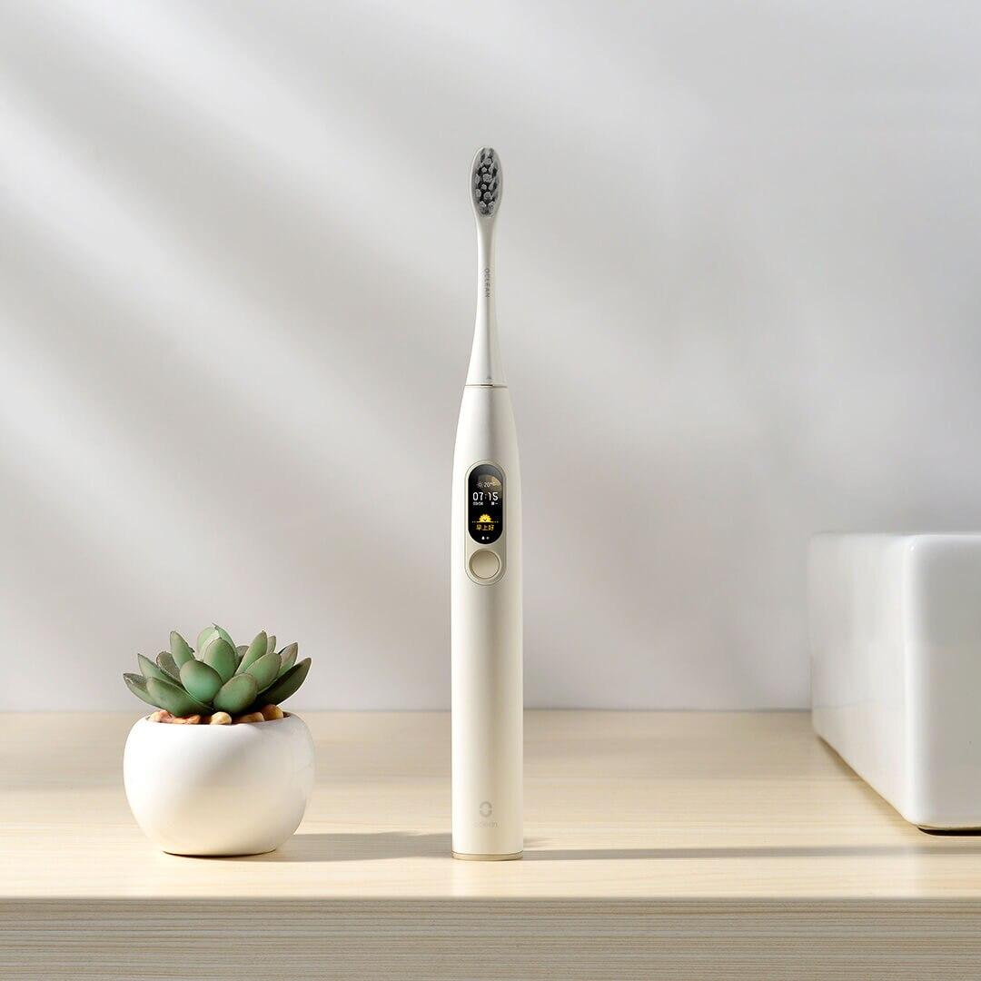 YOUPIN Oclean X Version anglaise brosse à dents électrique intelligente écran tactile AI Protection App contrôle avec support de charge magnétique