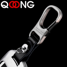 QOONG Genuine Leather Key Smart Wallet DIY Car Keychain EDC Pocket Key Holder Keys Organizer Customized Key Chain Keyring Y52 цена