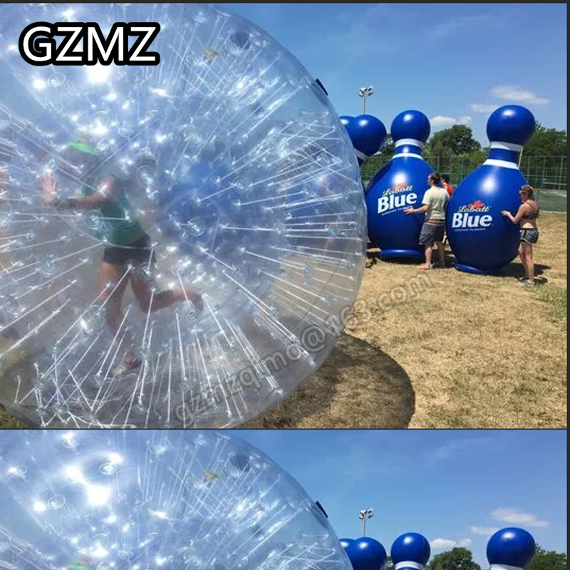 MZQM PVC inflatable body zorb ball 3m dia inflatable human hamster ball for sale customized color inflatable zorb ball for human