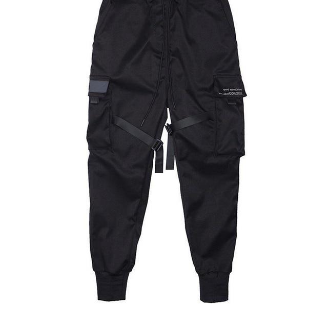 Fitas harem joggers calças de carga dos homens streetwear 2020 hip hop bolsos casuais calças faixa masculina harajuku moda 4