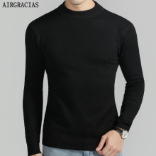 AIRGRACIAS 2019 Spring New Mens Pullovers Knitting Sweater Men Fashion Solid Color Pullover Men Pull Homme M-4XL