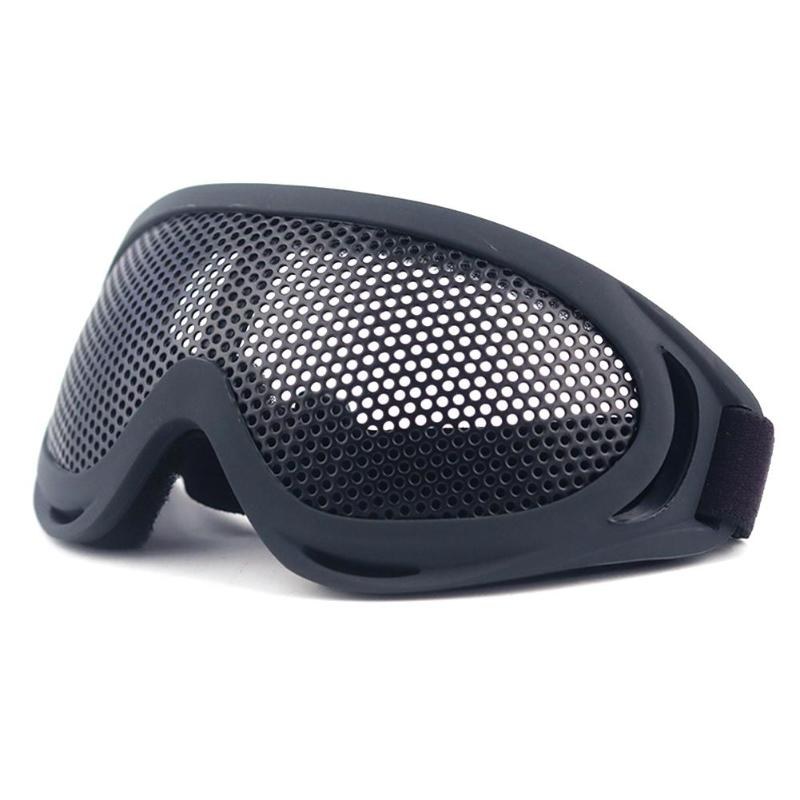 Steel Wire Mesh Goggles Eyes Protective Safety Glasses for Outdoor Hunt Eyewear Necessary Tactical Outdoor Accessories