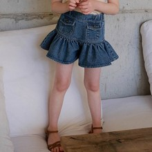 Girls Mini Skirts Toddler Girl Demin Skirts with Shorts Pockets Baby Summer Clothes  2 3 4 5 6 7 8 years