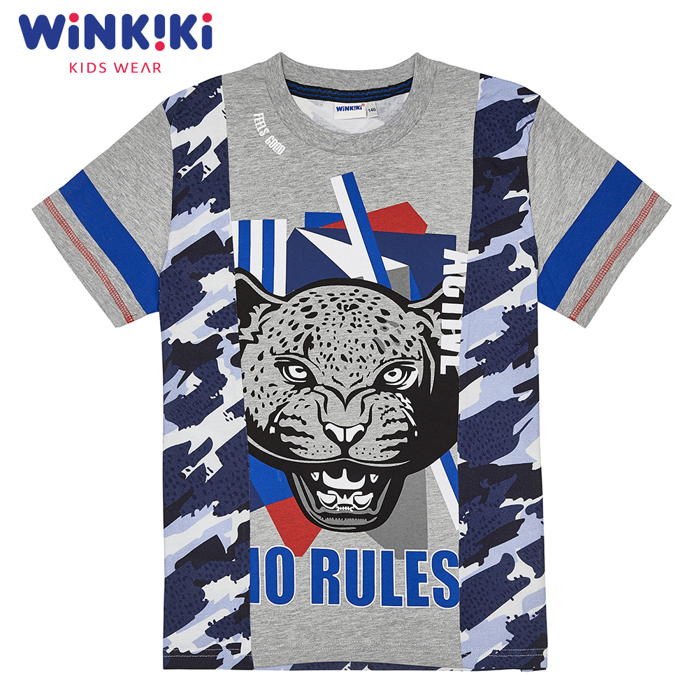 T-Shirts WINKIKI WTB82254 children clothing t-shirt t-short for boys and girls top tunic Cotton  Boys pants kotmarkot 80100 children clothing for girls kid clothes