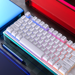RGB Keyboard Mixed Backlit Floating Keycaps USB Wired Gaming Keyboard 104 Keycaps for E-sport Gamer Notebook Desktop