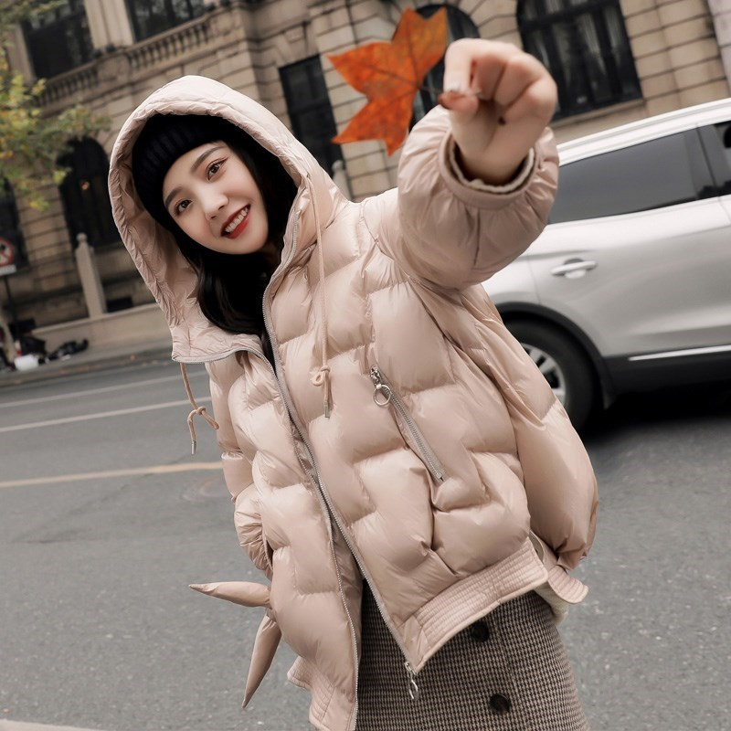 FTLZZ New Winter Plaid   Down     Coats   Women Hooded White Duck   Down   Jacket Female Casual Short Waterproof Outerwear Clothes