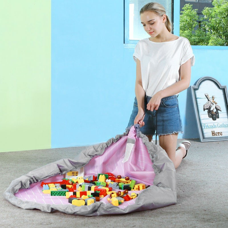 Baby Kids 150cm Large Size Toys Bag Travel Mat Toy Quick Access Cushion Child Waterproof Convenient Bauble Storage Sort Out Bag