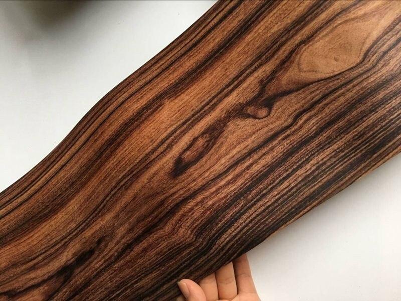 2X Natural Genuine Black Rosewood Wood Veneer Vintage Furniture 0.2mm Thick C/C