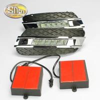 SNCN LED Daytime Running Light For Mercedes Benz W164 ML280 ML300 ML350 2006 2009,Waterproof ABS 12V DRL Fog Lamp Decoration