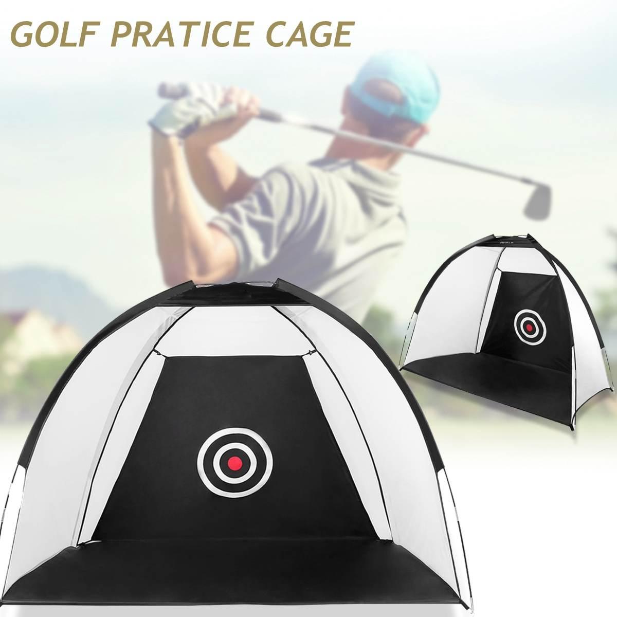 2/3 M Golf Cage Practice Net Training Indoor Outdoor Sport Golf Exercise Equipment Garden Trainer