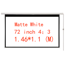 Thinyou Motorized Projection Screen 72 Inch 4:3 Matt White 3D Projector Electric With Remote for Home Cinema Business bar