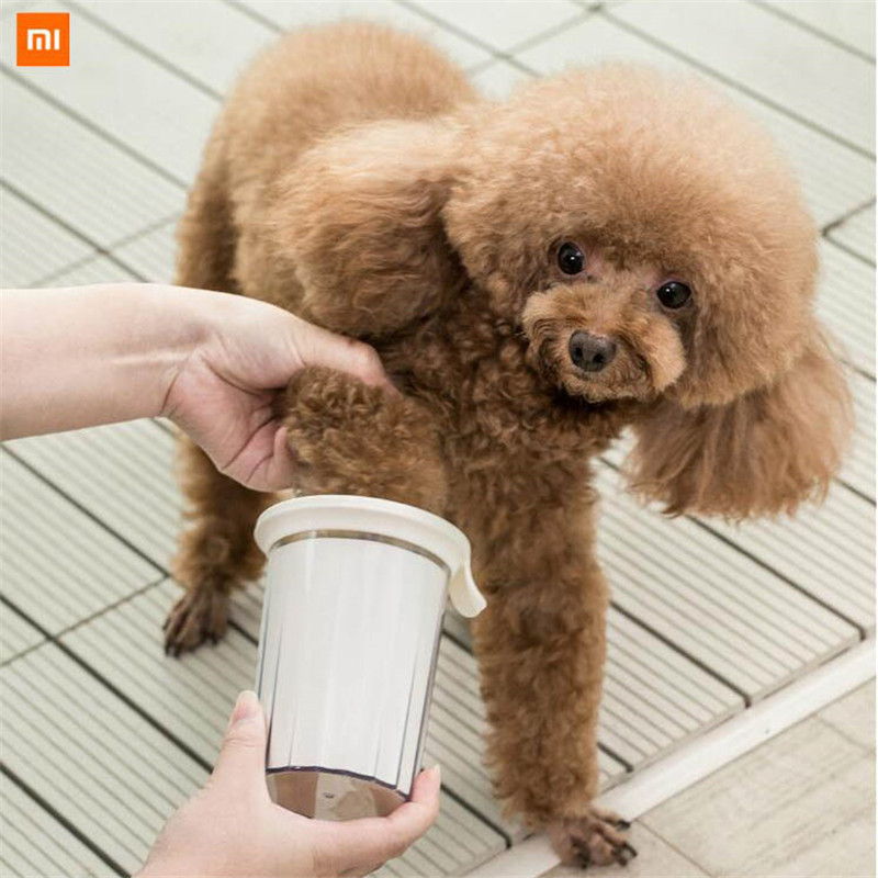New Xiaomi Mijia Dog Brush Pet Foot Washer Cup Silicone Material Soft Touch Three-step Cleaning Easy To Remove And Wash Health