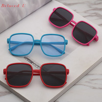 Wholesales Fashion Square Children Sunglasses Colorful Kids Glasses Boys and Girls Eyeglasses (10pcs/lot)