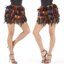 Женская уличная мини юбка с принтом kawaii feathers летняя одежда