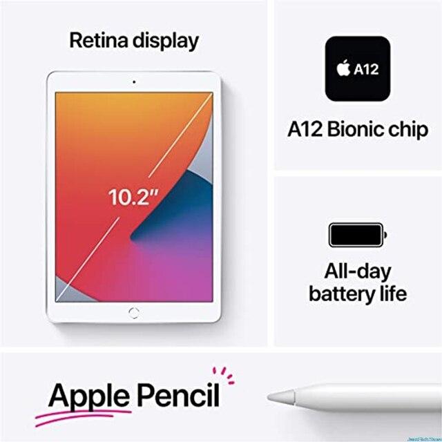 100% Original New Apple IPad 2020  IPad 8 Gray(10.2-inch, Wi-Fi, 128GB) - (8th Generation) 5