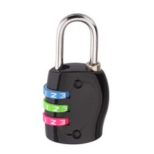 1pcs Alloy Mini Luggage Code Lock 3 Dial Digit Combination Travel Suitcase Lock  Padlock Security Luggage Lock for Gym combination security padlock 4 digit resettable code lock black pack of 2