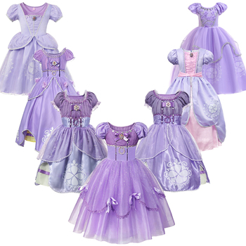 Infant Baby Girls Sofia Princess Costume Halloween Cosplay Clothes Toddler Party Role-play Kids Fancy Sofia Dresses For Girls комод sofia