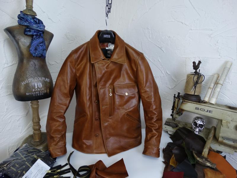 Hd0e5603f2b9741709821f697a8a34febN YR!Free shipping.Italy Oil Wax Cowhide coat.Helix Rider genuine leather jacket,winter men vintage brown leather jacket.sales