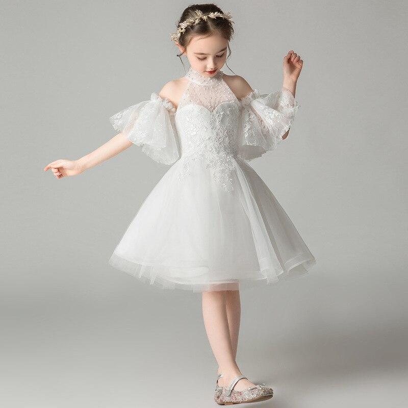 CHILDREN'S Dress Princess Dress 2019 New Style Western Style Girls Puffy Yarn Fashion Little Flower Girl Host Performance Clothi