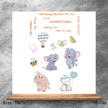 ZhuoAng Elephant Clear Stamps/Silicone Transparent Seals for DIY scrapbooking photo album Stamps