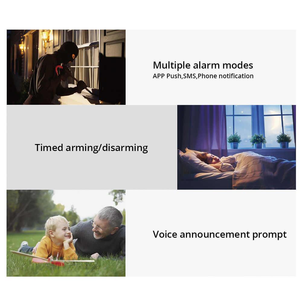 FUERS WIFI GSM kablosuz ev iş hırsız güvenlik alarmı sistemi APP kontrol Siren RFID hareket dedektörü PIR duman sensörü